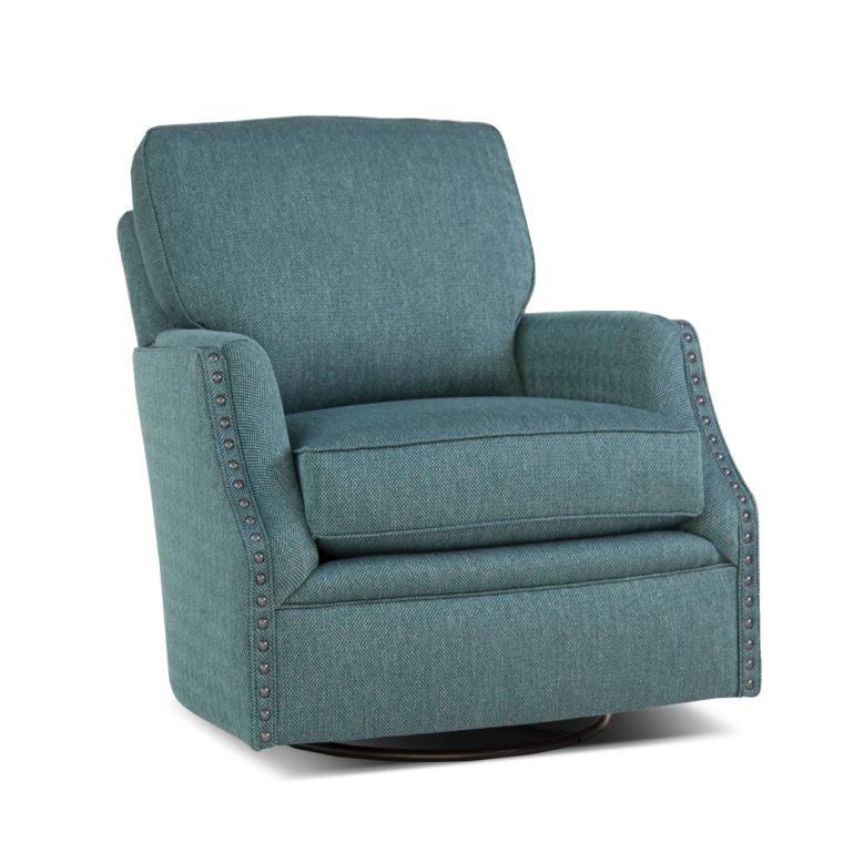 Smith Brothers Living Room Swivel Glider Chair 526 58