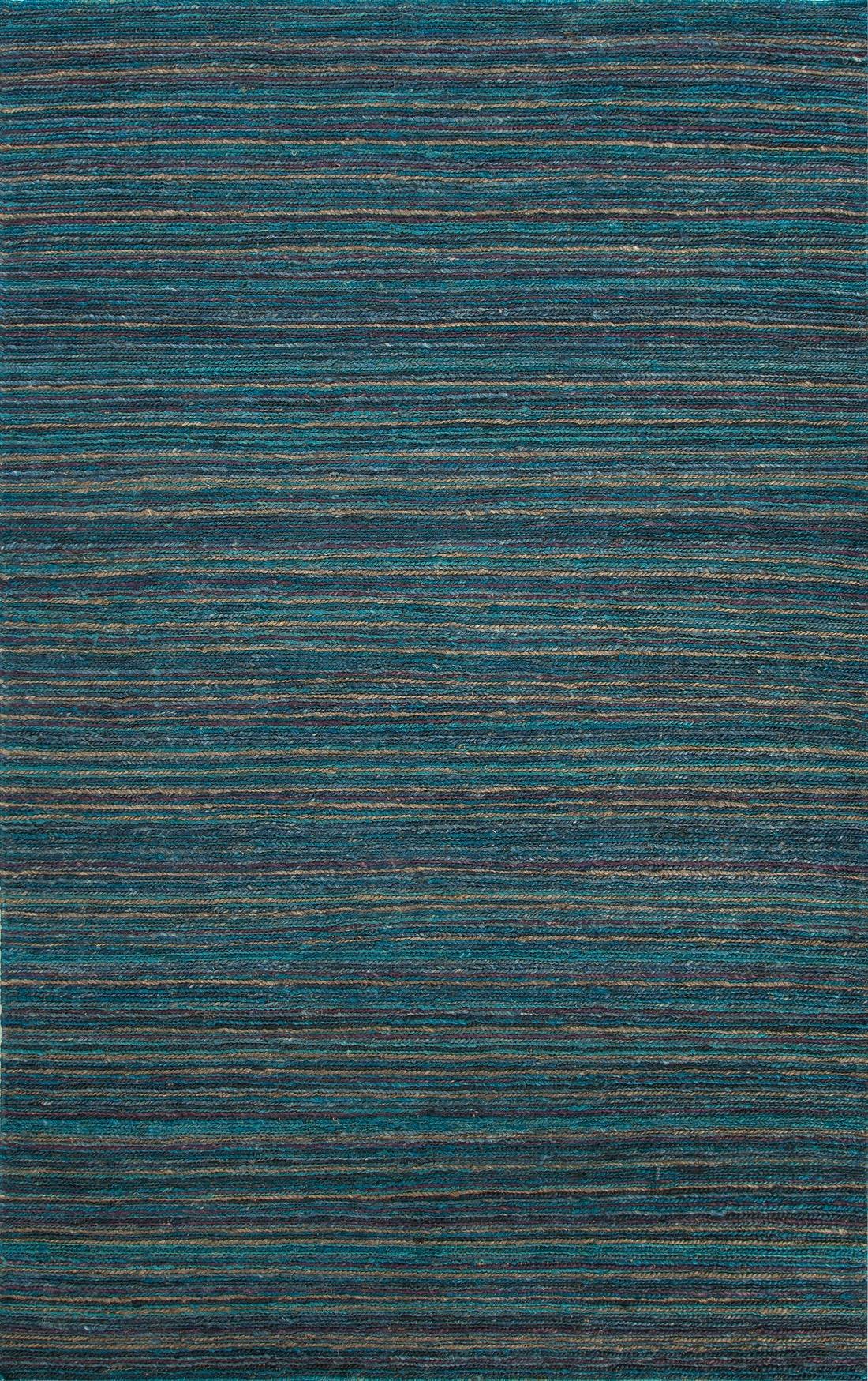 Jaipur Rugs Floor Coverings Naturals Stripe Pattern Hemp Blue Purple Area Rug