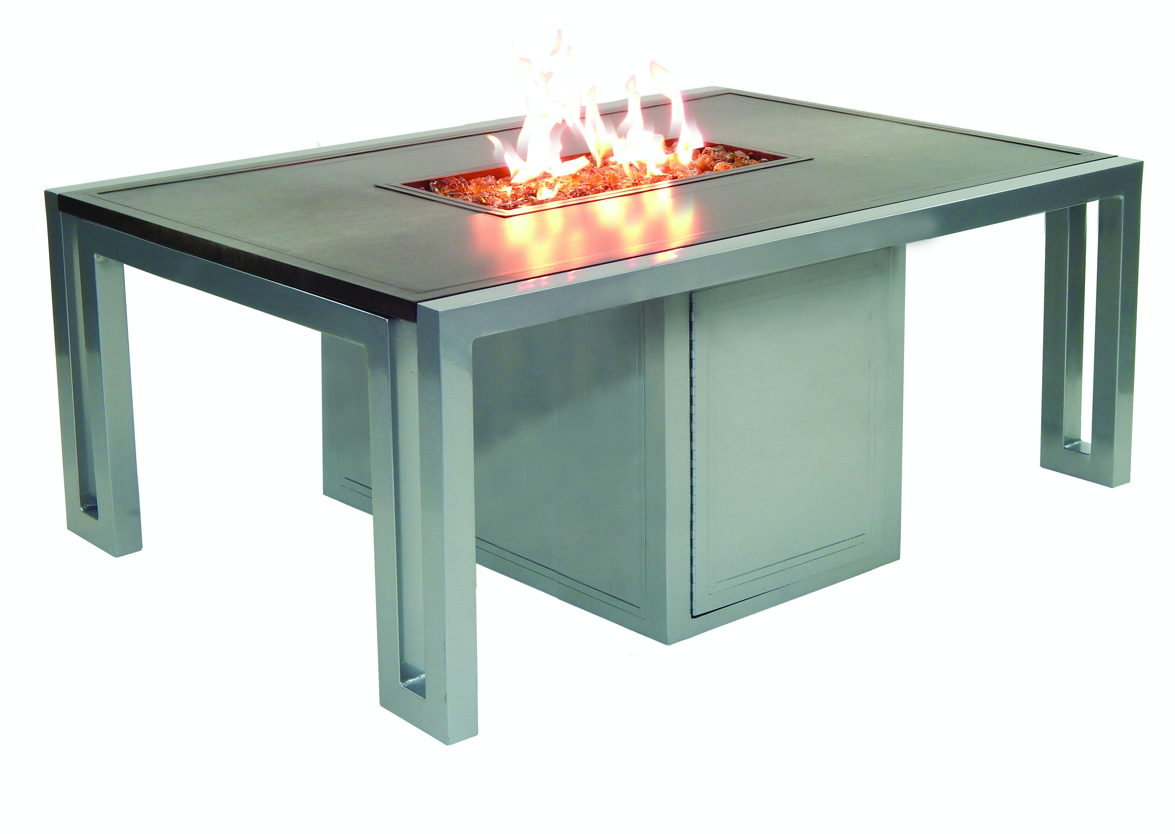 Fh Casual Icon Rectangular Firepit Coffee Table The Fire House Casual Living Store