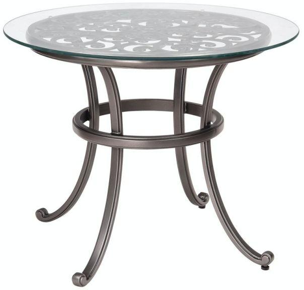 outdoor patio bistro table by woodard