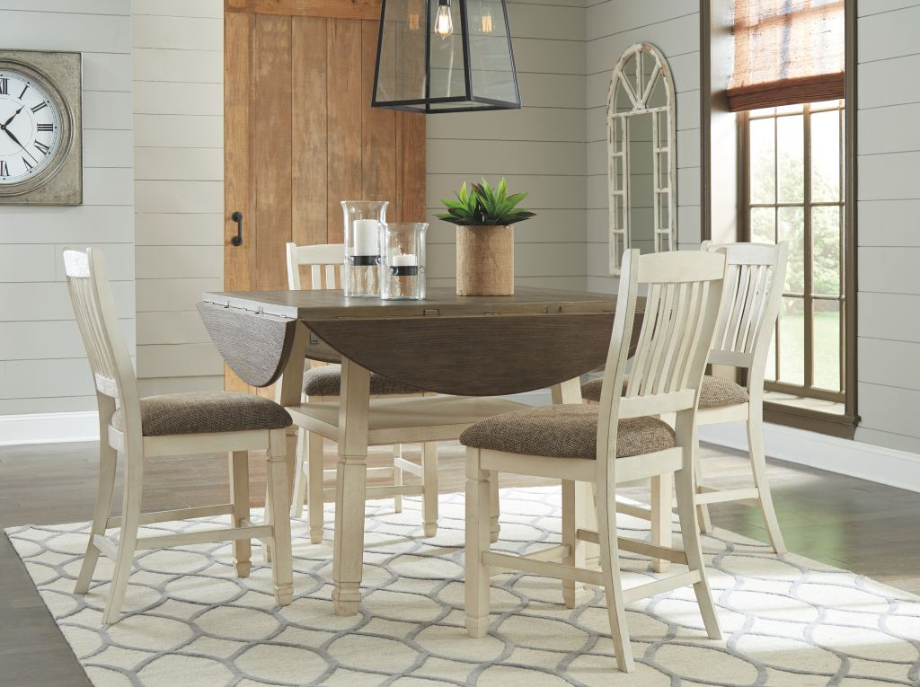 Signature Design By Ashley Dining Room Round Drop Leaf
