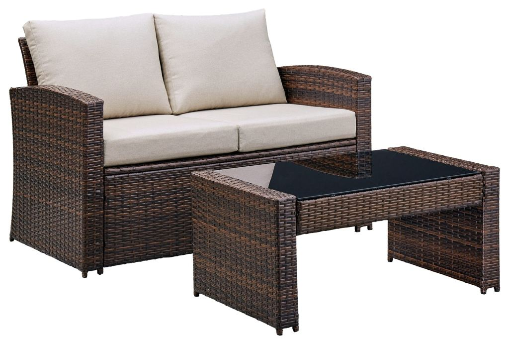 east brook outdoor loveseat with table set of 2