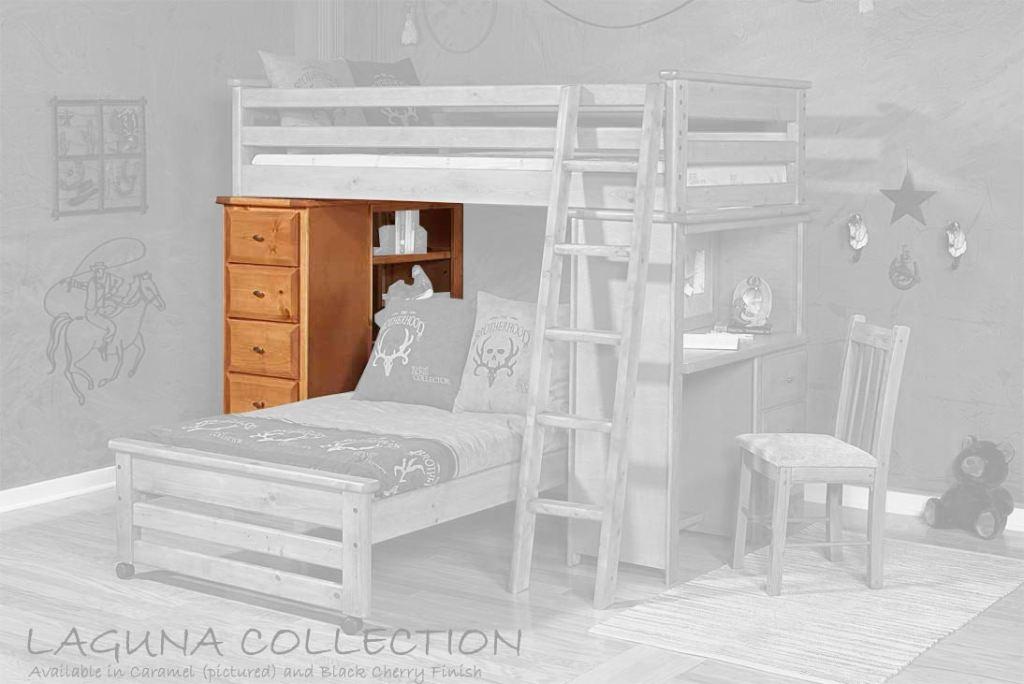 bronco loft bed chest end 4777