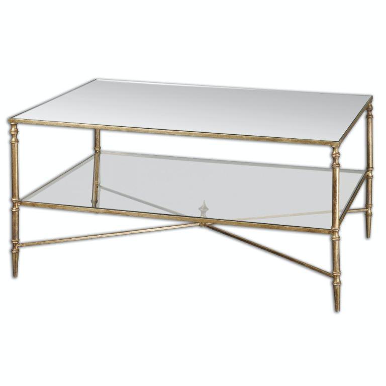 uttermost living room henzler mirrored glass coffee table ut24276 walter e smithe furniture design