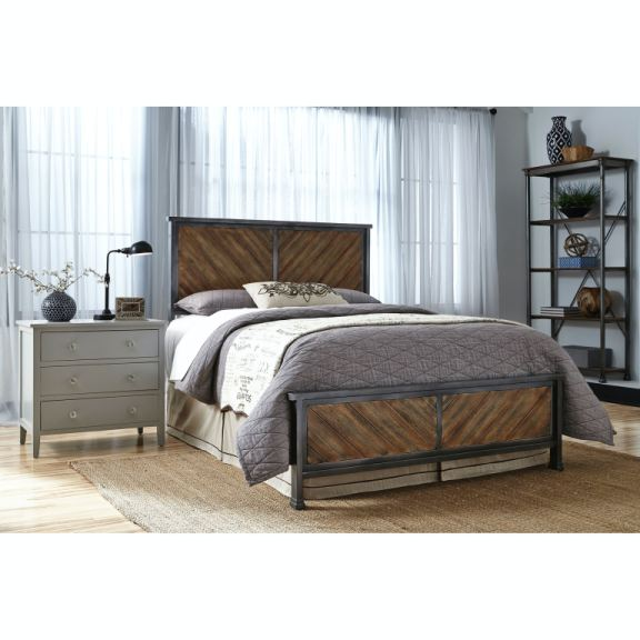 Leggett & Platt Bedroom Braden Complete Metal Bed And