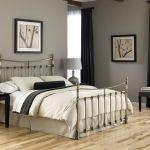 Leggett Platt Bedroom Leighton Metal Headboard And Footboard Bed Panels With Straight Lined