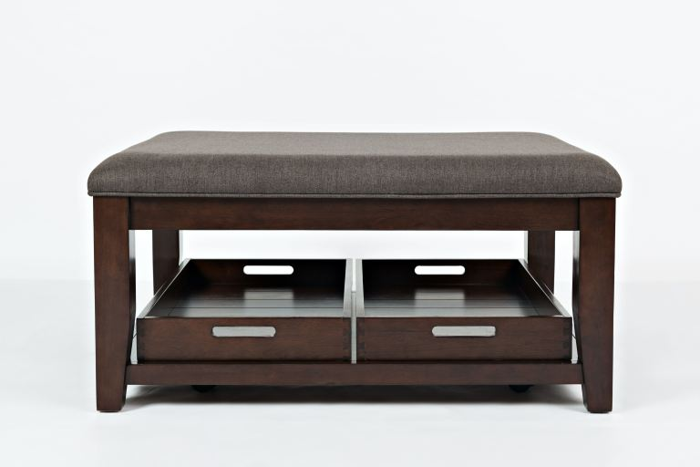 twin cities ottoman cocktail table w casters