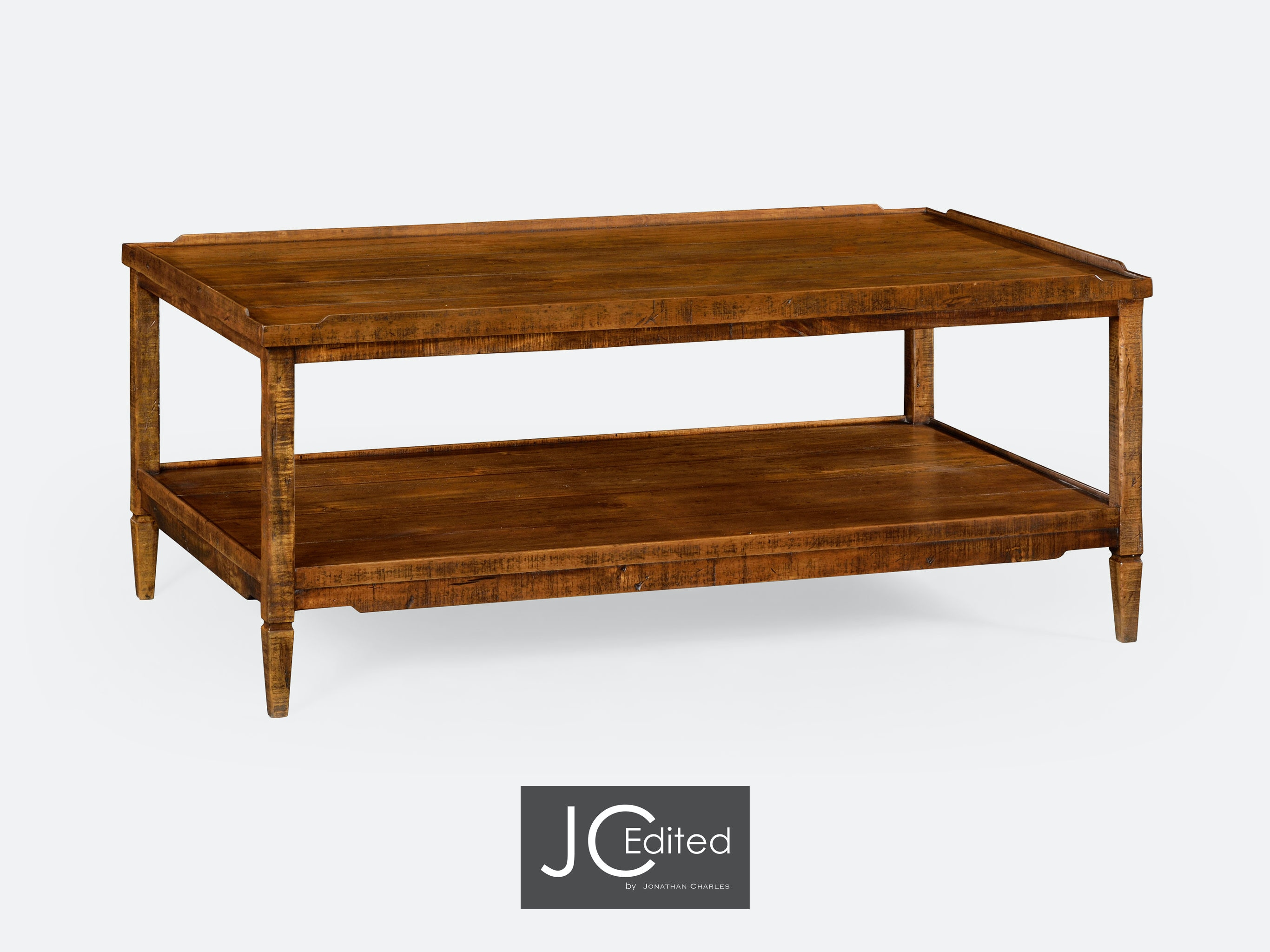 jonathan charles living room walnut country style coffee table qj491021cfw walter e smithe furniture design