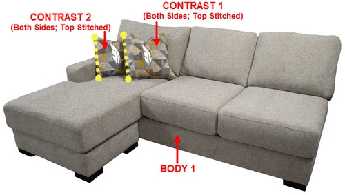 side facing 1 arm sofa chaise 46645l