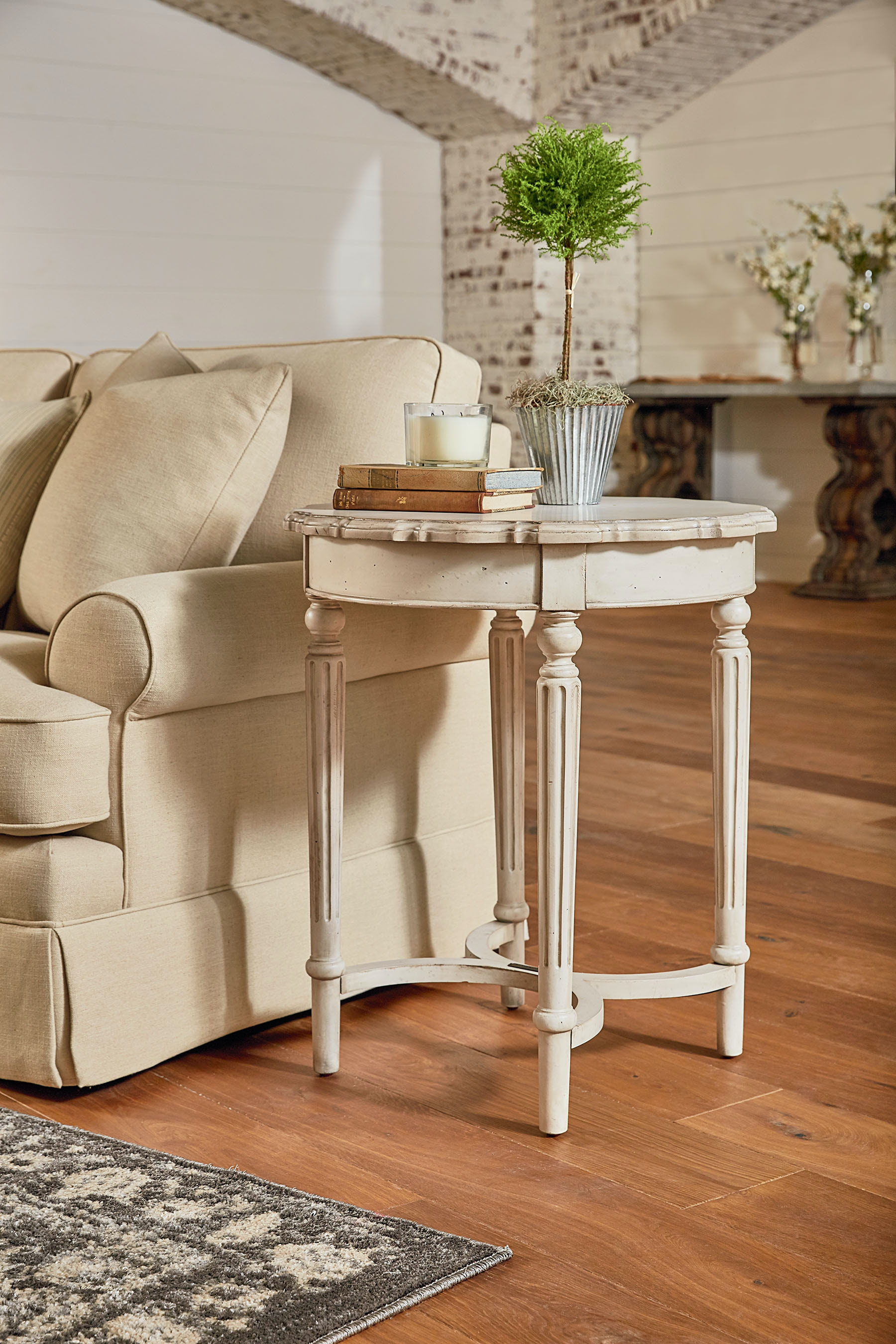 Magnolia Home Living Room French Inspired Tall Pie Crust