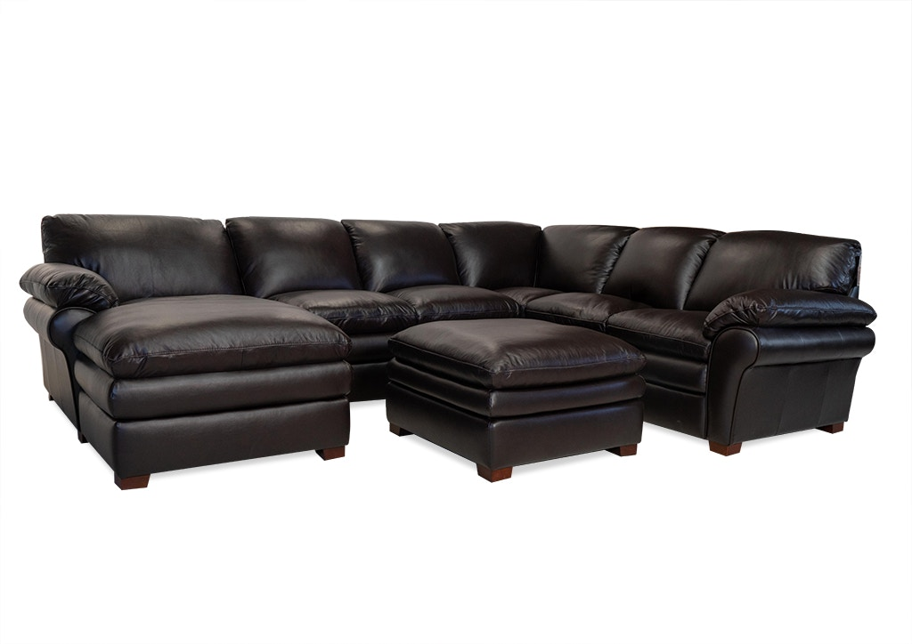 atollo left facing chaise sectional ottoman free