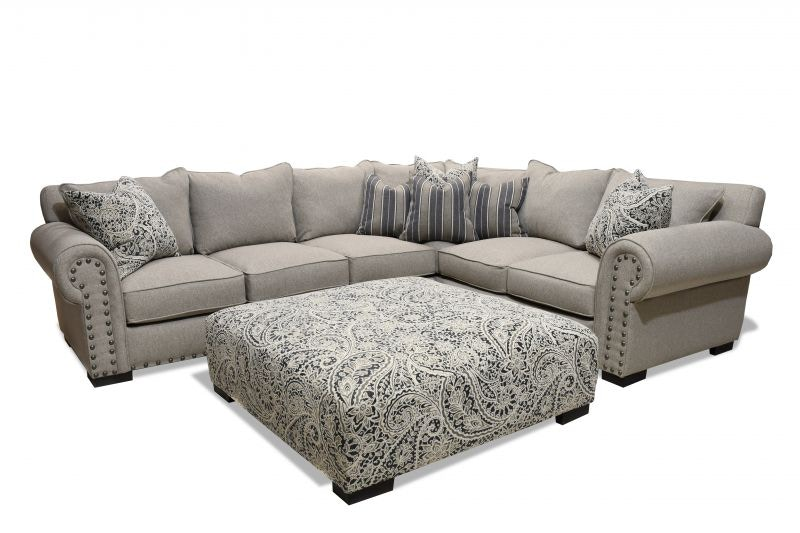 colefax right side sectional ottoman free