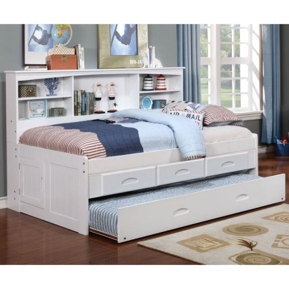 Discovery Furniture Carolina White Daybed With Trundle Mattress FREE