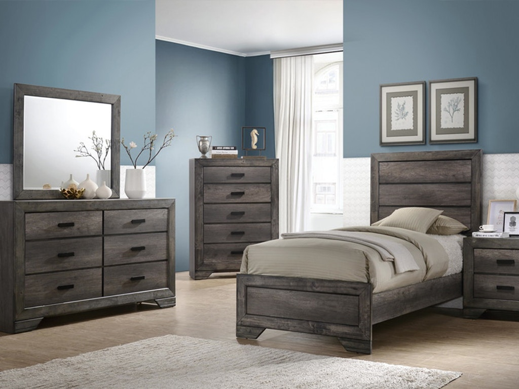 elements international group youth bedroom nathan twin bedroom set mattress free