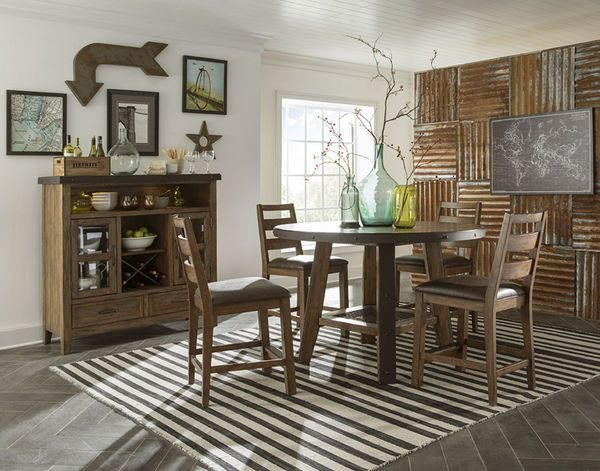 Craft Designs Dining Room Taos Round Pub Table And Four Chairs