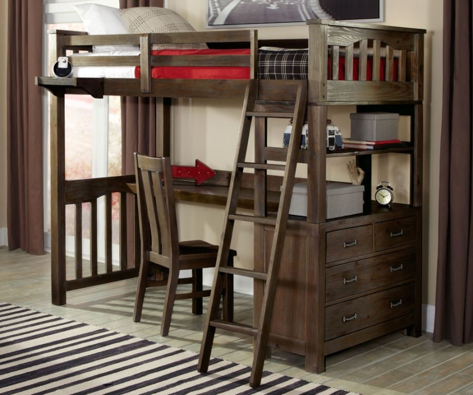highlands twin loft bed with desk
