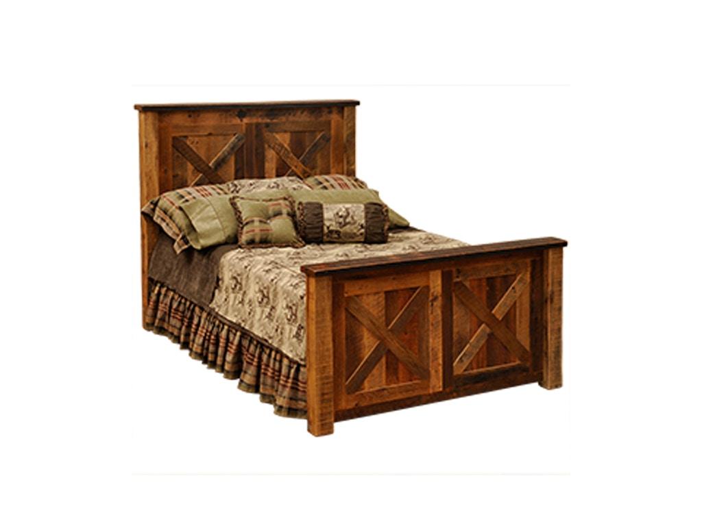 flf bedroom barnwood barndoor king