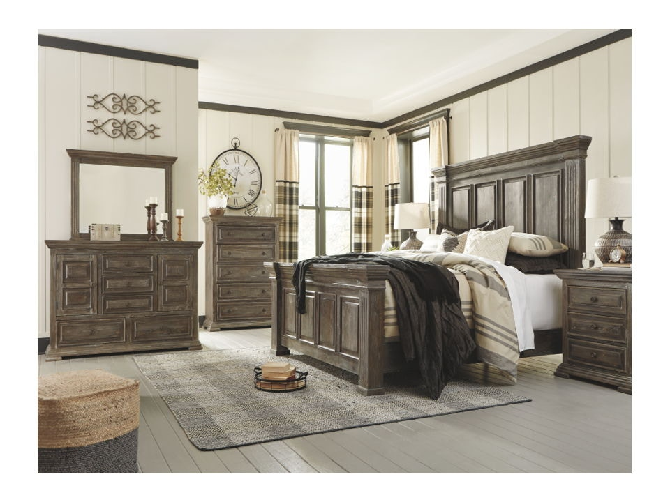 8 piece king panel bed set b813 31