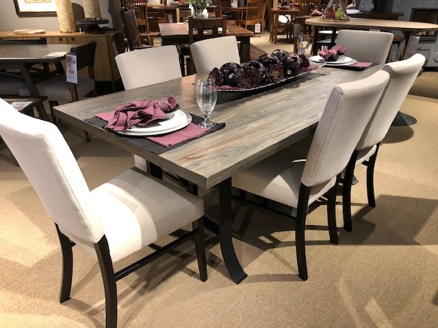 clearance dining room yosemite 7 piece dining set elm on dining room sets on clearance id=90700