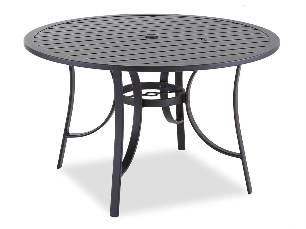 cape coral java aluminum 48 in d slat top dining table