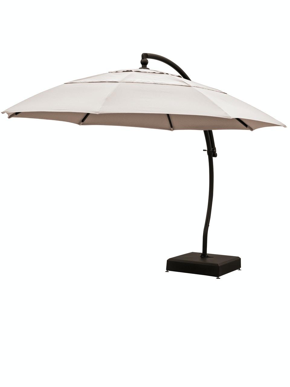 living room treasure garden 13 ft vanilla aluminum cantilever umbrella ag7813 2680049