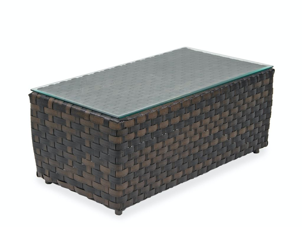 catalina cigar outdoor wicker 44 x 24 in coffee table