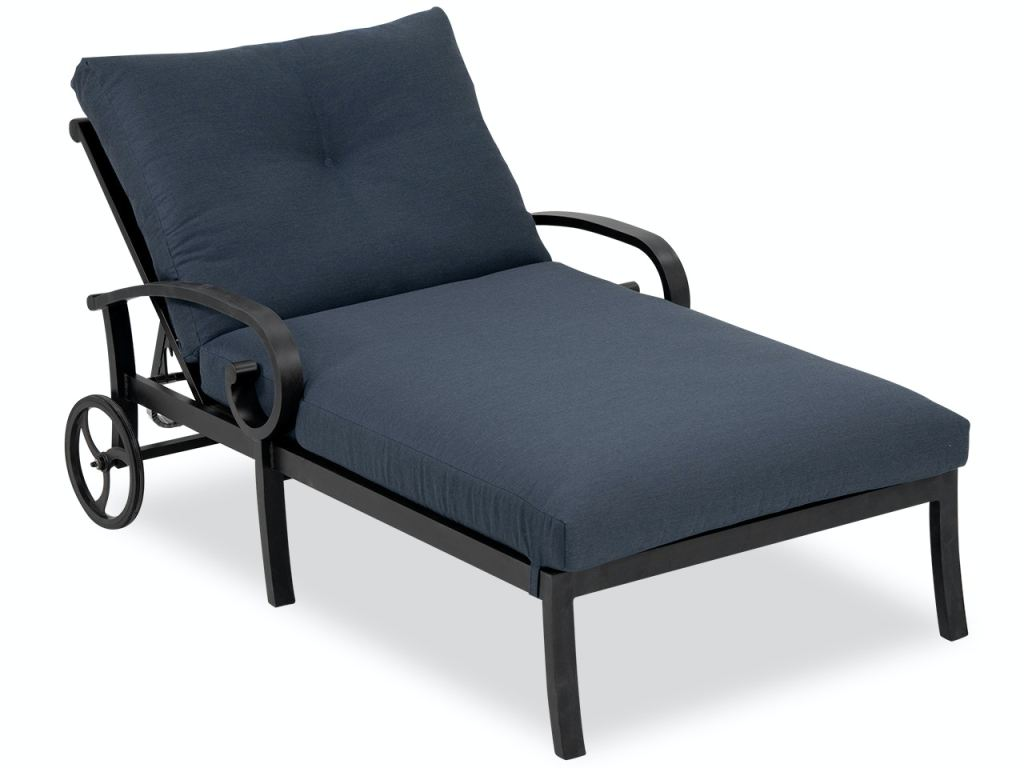 solstice aged bronze aluminum and flagship twilight cushion double chaise lounge