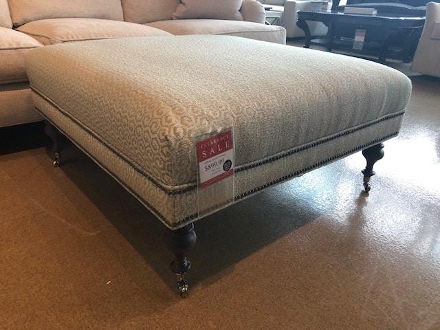 Clearance Living Room Suffolk Square Ottoman Nv32010 Clr Walter E Smithe Furniture Design