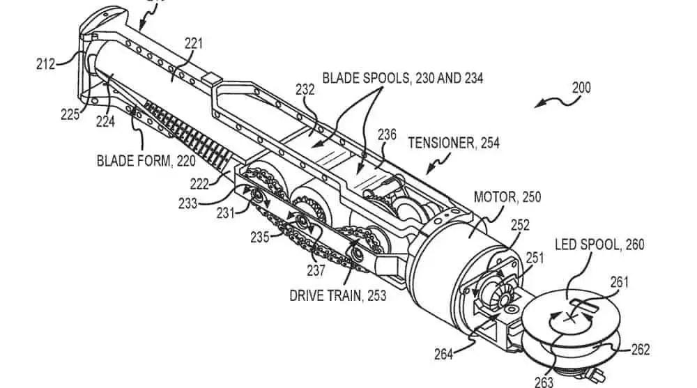 star wars lightsaber patent