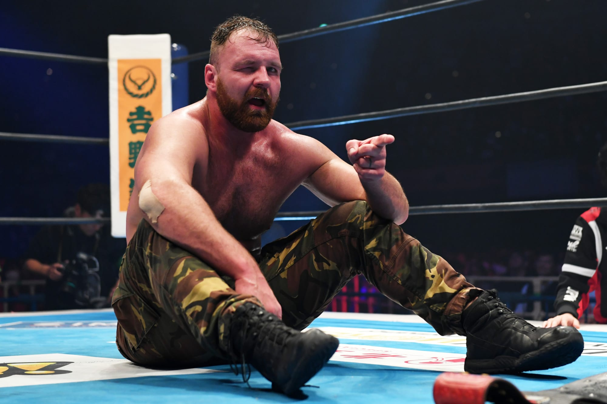 Jon Moxley appears at Wrestle Kingdom 15, set for clash with KENTA