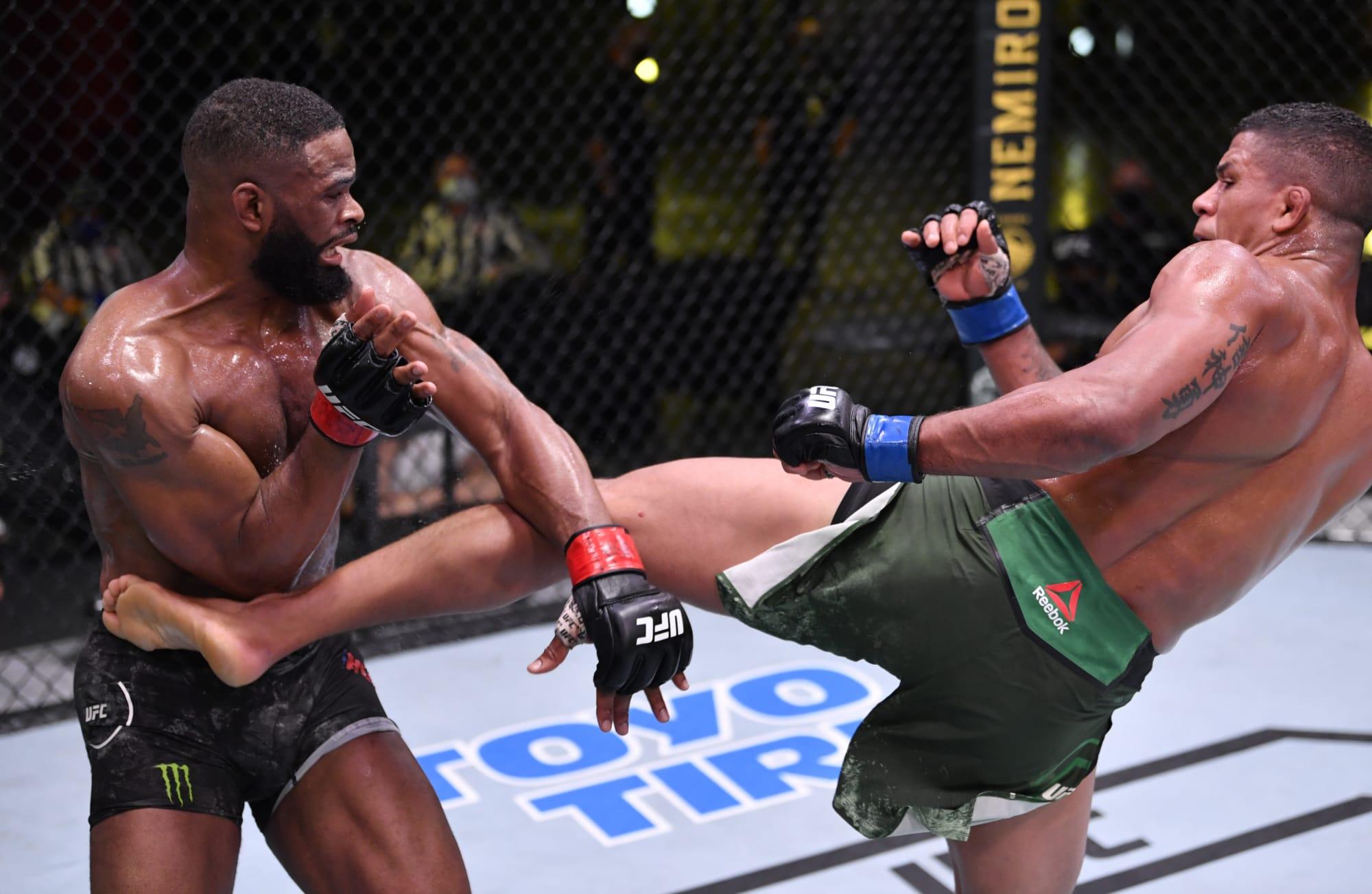 Photo of UFC Vegas: Gilbert Burns dismantles Tyron Woodley for five-round war