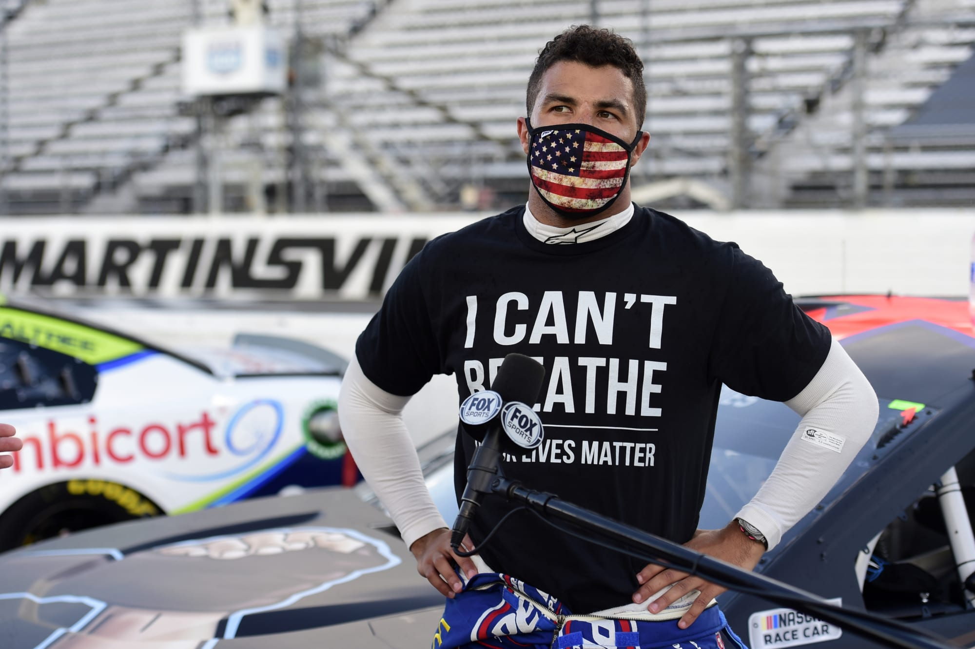 Photo of NASCAR confirms noose found in Bubba Wallace's garage stall on Sunday