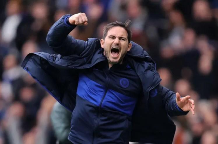 Frank Lampard celebrating.