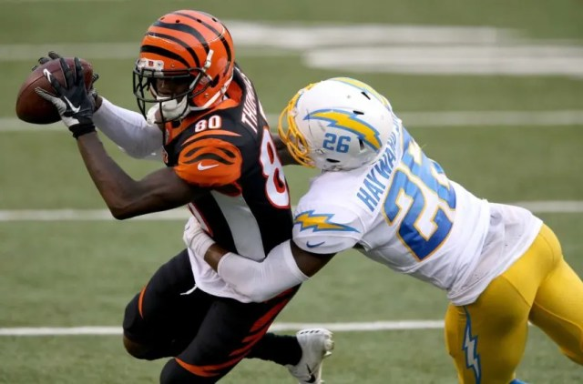 18. Chargers (22): Did you notice all 12 of Casey Hayward's tackles Sunday were of the solo variety? That's a crazy stat for a guy who plays cornerback. Nfl Los Angeles Chargers At Cincinnati Bengals