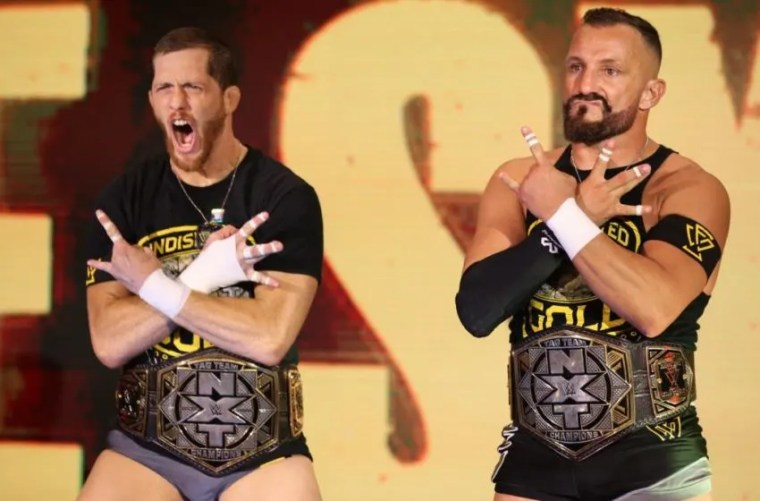 The Undisputed Era's Kyle O'Reilly and Bobby Fish at the Oct. 30, 2019 edition of WWE NXT. Photo: WWE.com