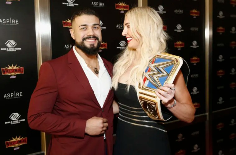 WWE, Charlotte Flair, Andrade (Photo by Brian Ach/Getty Images for WWE)