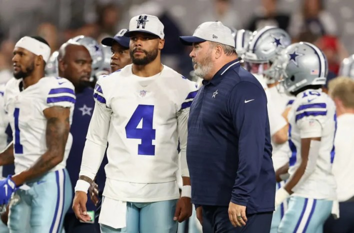 Dak Prescott, Mike McCarthy, Dallas Cowboys. (Photo by Christian Petersen/Getty Images)