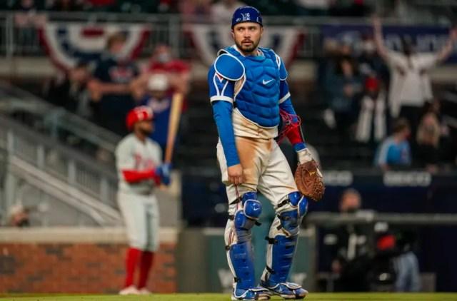 Travis d'Arnaud, Atlanta Braves. (Mandatory Credit: Dale Zanine-USA TODAY Sports)