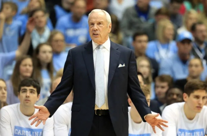 CHAPEL HILL, NORTH CAROLINA - FEBRUARY 08: Head coach Roy Williams of the North Carolina Tar Heels watches the Duke Blue Devils during their game at the Dean Smith Center on February 08, 2020 in Chapel Hill, North Carolina. (Photo by Streeter Lecka / Getty Images)