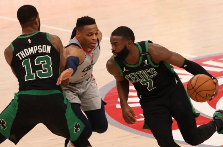 Boston Celtics: Kendrick Perkins praises Jaylen Brown ...