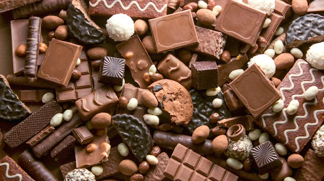 Chocolates: foods chickens should not eat