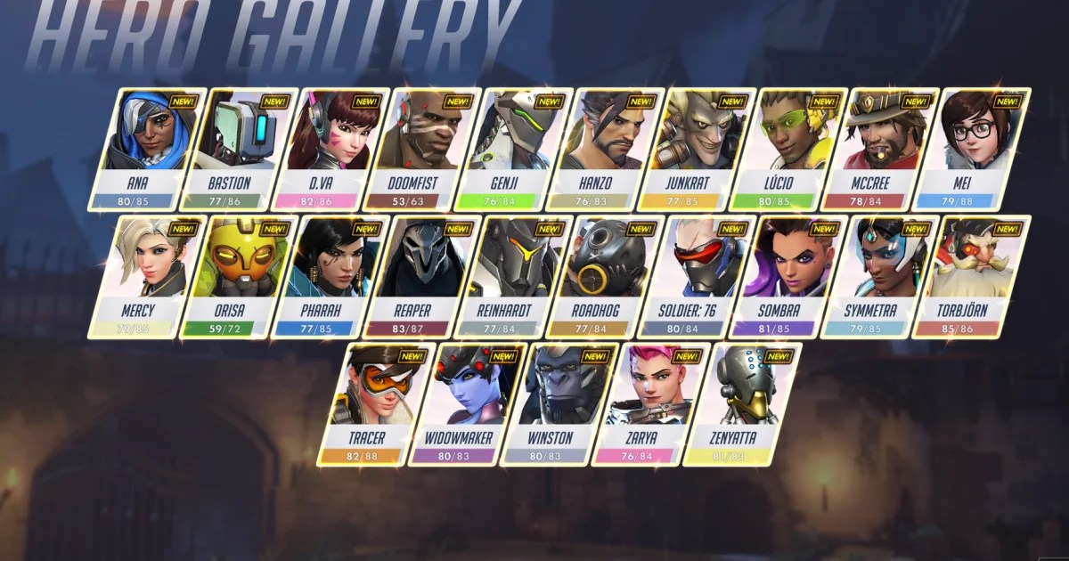 Blizzard Adds New Hero Roster Screen To Overwatch PTR Dbltap