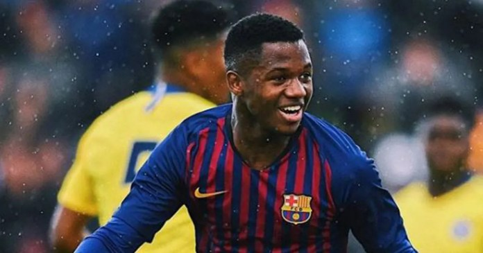 Lionel Messi's Replacement Ansu Fati Could Become Second Youngest Player to Feature for Barcelona 1