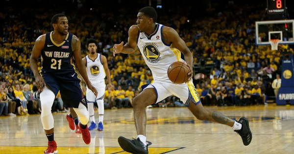 kevon looney reacts to steve kerr calling him - 1024×683