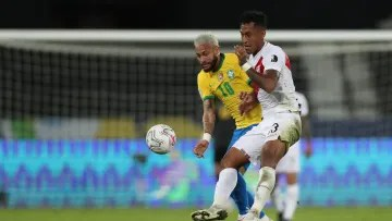 Neymar against Peru