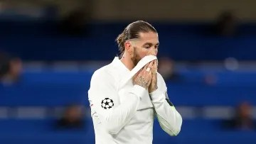 Sergio Ramos in his last game with Real Madrid