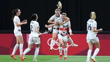 Ellen White got the decisive goal for Team GB against Japan