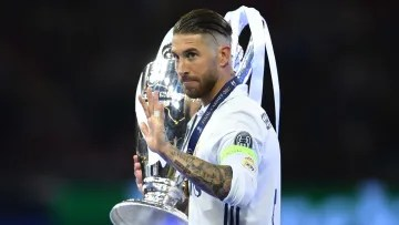 Sergio Ramos poses with the Twelfth