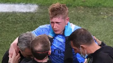Kevin De Bruyne suffered a nasty injury in the Champions League final