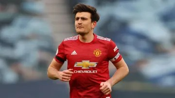 Harry Maguire was forced to watch as his teammates trained before facing Villarreal in Gdansk